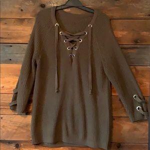 Military hippie sweater